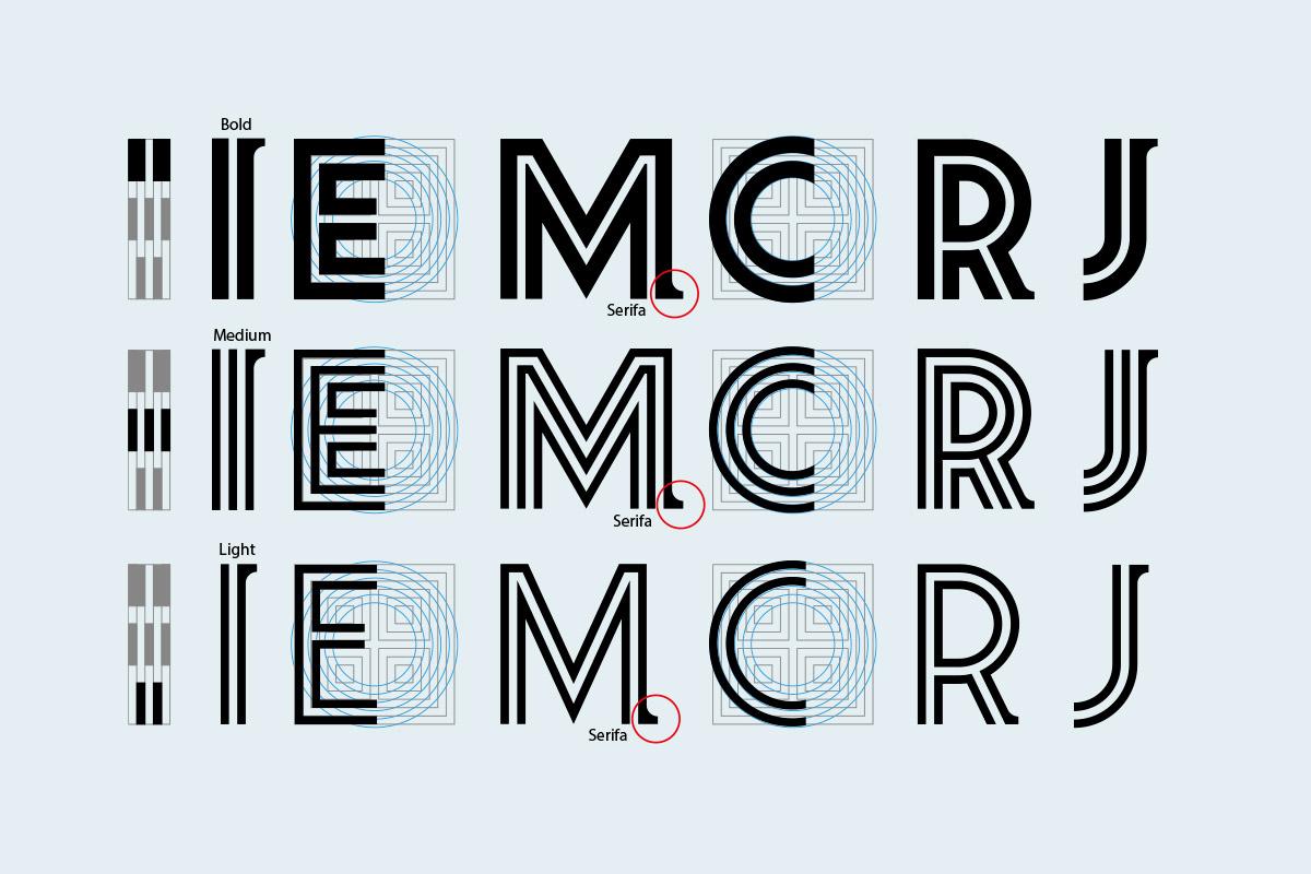 reticle de construcció de la nova tipografia