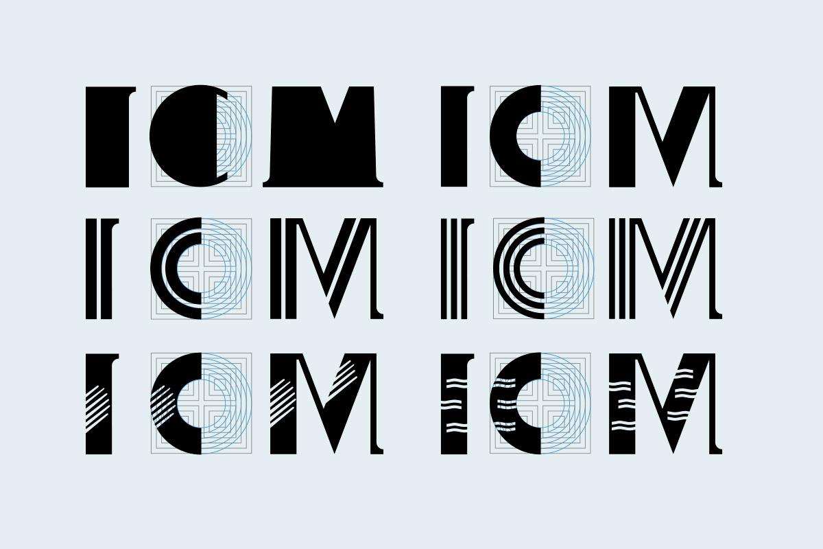 reticle de construcció de variables de la nova tipografia